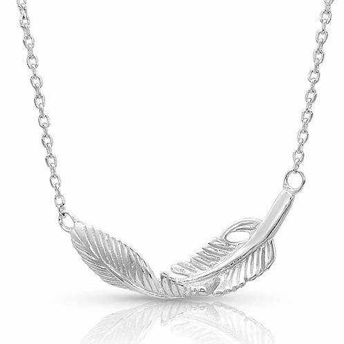 Montana Silversmith Turning Feather Pendant Necklace