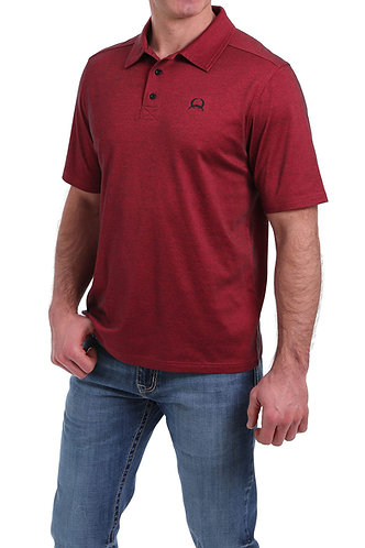CINCH MENS S/S ARENAFLEX POLO 4/20 - RED