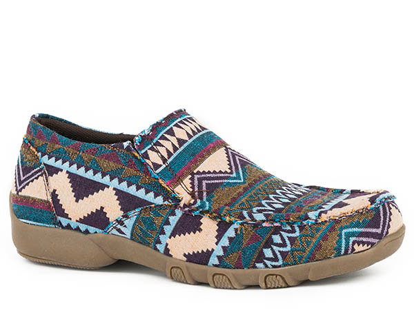 WOMENS FOOTWEAR   DRIVING MOC SLIP ON FABRICIC