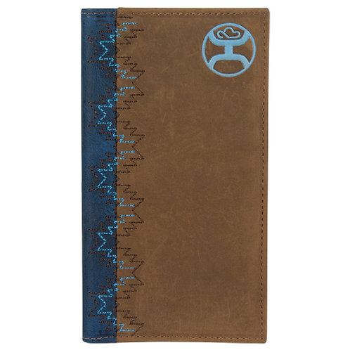 HOOEY RODEO WALLET BROWN, NAVY, & DUSTY TURQUOISE