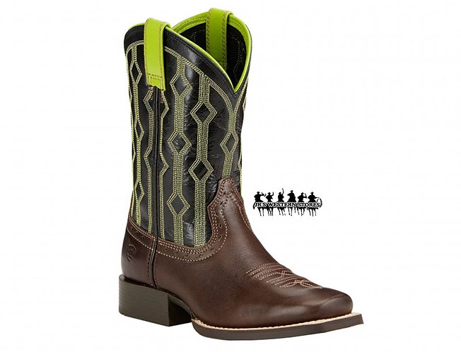 Ariat Lime/Chocolate Live Wire Kid's Boot