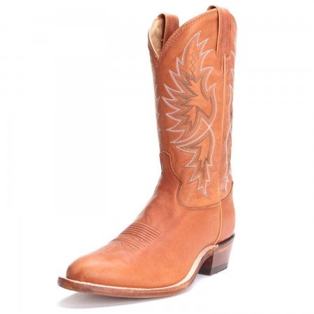 Tony Lama Mens Round Toe Cowboy Boots Cognac H2338