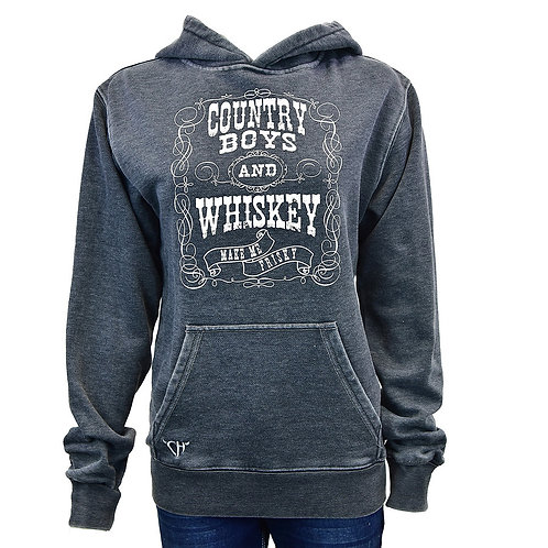 Cowgirl Hardware Ladies Country Boys and Whiskey Hoodie