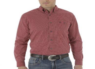 Wrangler® 20X Men's L/S Shirt MJ2638M - Red/Black