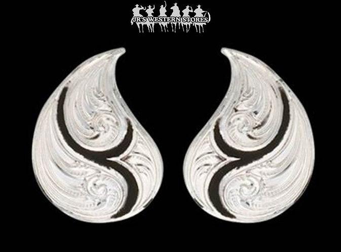 Black Paisley Drop Earrings