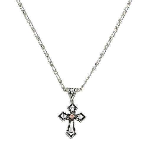 MS Antique Copper Diamond Cross