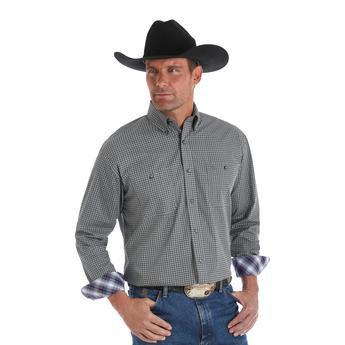 George Strait Long Sleeve Shirt - Black/White