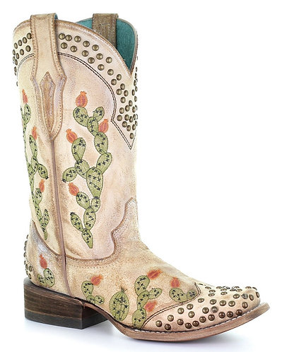 Corral Women's Cactus Embroidered Western Boots