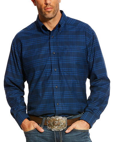 Ariat Men's Navy Abner Classic Fit Shirt
