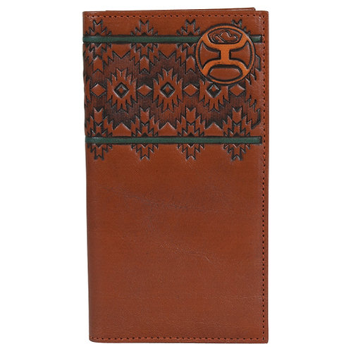 HOOEY RODEO WALLET CHESTNUT AZTEC