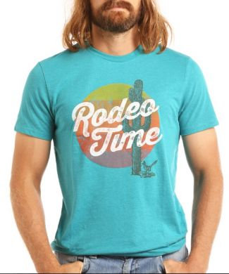 DALE BRISBY/ROCK & ROLL DENIM MENS CACTUS RODEO TIME TEE DALE BRISBY/ROCK & ROLL