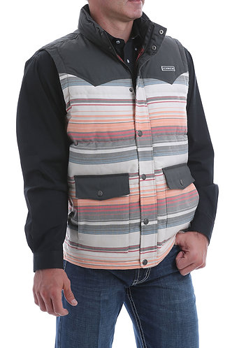 CINCH MENS BLANKET STRIPE VEST OW20 - MUL