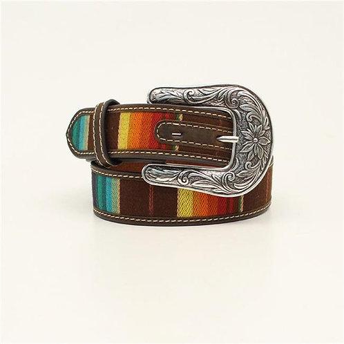 M&F Western  1.25 in. Kids Serape Nocona Belts, Multi Color