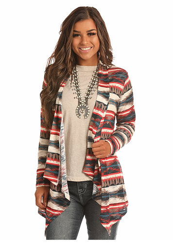 ROCK & ROLL COWGIRL ALLOVER AZTEC PRINT