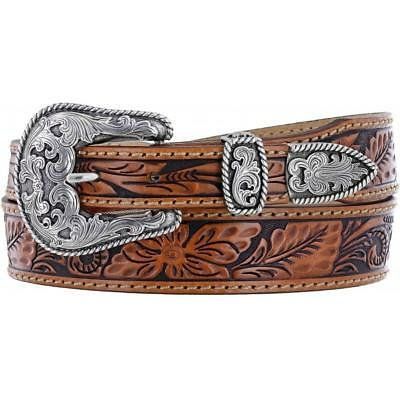 Tony Lama Western Mens Belt Leather
