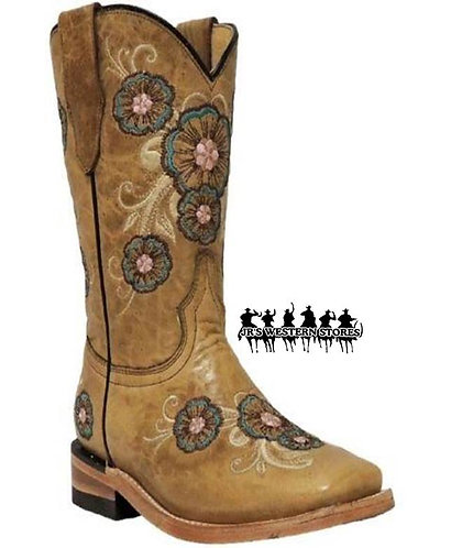 Corral Multicolored Flower Kid's Boot