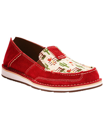 Ariat Women's Vintage Cowgirl Print Cruiser Slip On Shoes