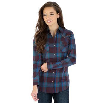 Wrangler® Western Fashion Top - Purple/Teal