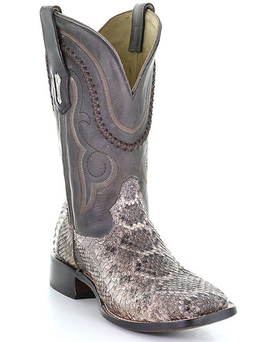 CORRAL MEN'S NATURAL RATTLE SNAKE BOOT Square Toe