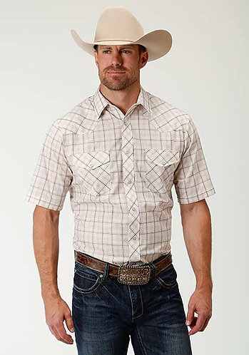 Karmen Men's Short Sleeve Western Style Shirt
