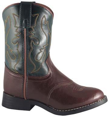 Smoky Mountain Green/Brown Stockman Kid's Boot