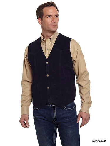 Cripple Creek Men's Leatherwear Black Vest