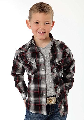 Roper Boy's Long Sleeve Western Style Shirt