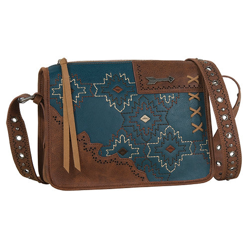 CATCHFLY FATE CROSSBODY TURQ EMBROIDERY