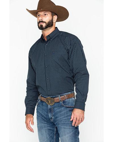 Ariat Men's Curtis Small Plaid Long Sleeve Western Shirt