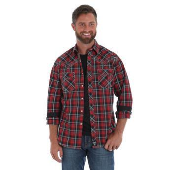 Rock 47® by Wrangler® Long Sleeve Shirt - Red/Black