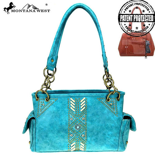 Montana West Aztec Collection Concealed Carry Satchel
