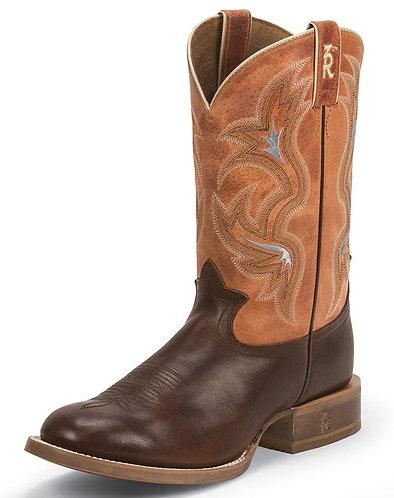 "Tony Lama Men's 3R 11"" Round Toe Cowboy Boot - Brown/Orange"