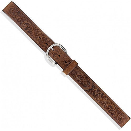 Justin Men's Tan Western Scroll Belt -