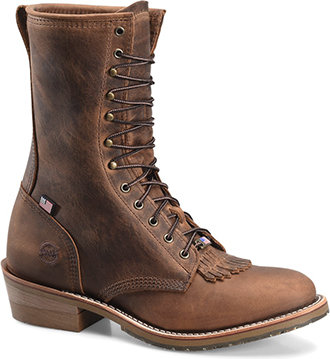 "Men's Double H 10"" Western Packer Work Boot (U.S.A.) DH3605"