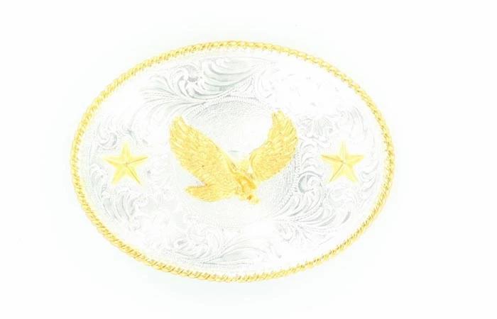NOCONA MEN'S EAGLE OVAL SHINY BUCKLE Style #3757017