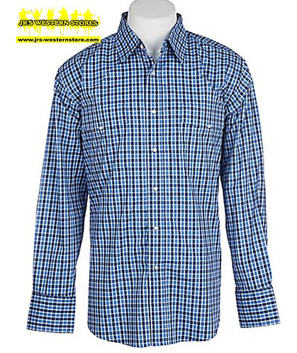 Wrangler Blue Plaid L/S Snap Shirt