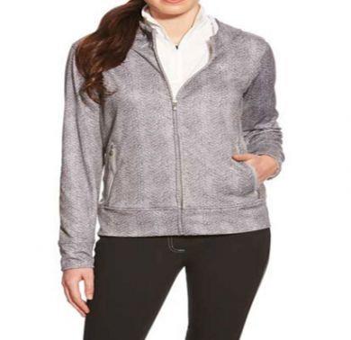 Ariat Women's Conquest Zip Hoodie Grey/White Herringbone 10017835