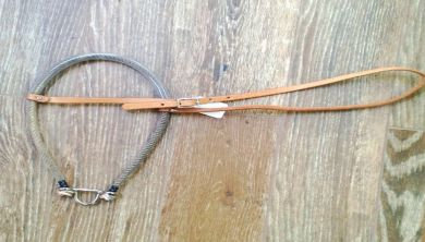 Noseband, W/Vinyl Covered Rope Nose,