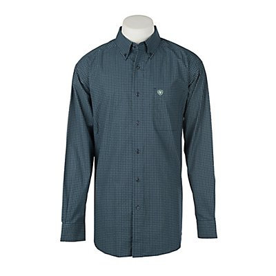 Ariat Men's Valdera Geo Print Hockney Pool L/S Western Shirt