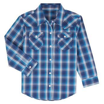 Wrangler® Baby Long Sleeve Bodysuit - PQ5273M - Blue