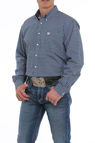 CINCH MENS L/S PRINT 10/19 II - BLU
