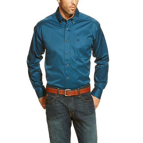 Ariat Men's Poseidon Blue Long Sleeve Shirt