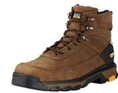 "ARIAT MEN'S Intrepid 6\\\\\\\"" H2O Lace Up Work Boot 10020078"