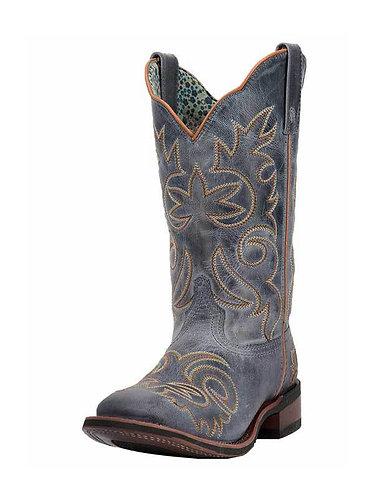 Laredo Womens Ella Blue Square Toe Western Boots