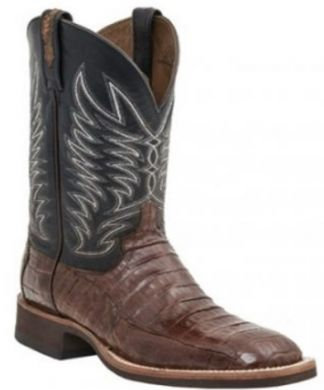 LUCCHESE MEN'S Caiman Crocodile Belly Tail Boots- MC2664