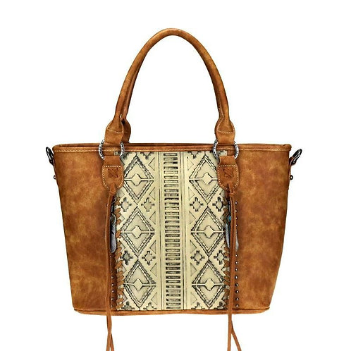 Trinity Ranch Hair-On Embossed Collection Concealed Carry Tote/Crossbody