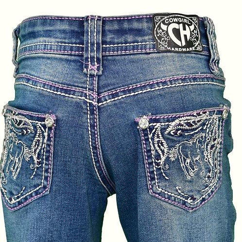 Cowgirl Hardware TOD Leaf de Swirls & Horse Jean