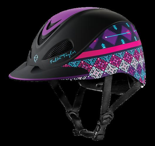 Troxel Fallon Taylor Purple Geo Helmet