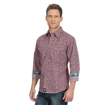 Rock 47® By Wrangler® Shirt - MRC379M - Burgundy