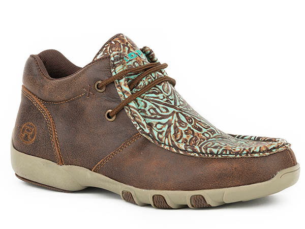 WOMENS FOOTWEAR   DRIVING MOC CHUKKA LEATHER